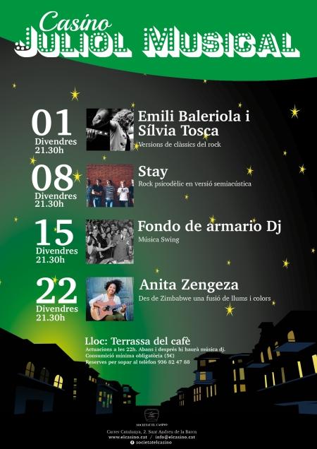 Juliol Musical 2016 al Casino de Sant Andreu de la Barca