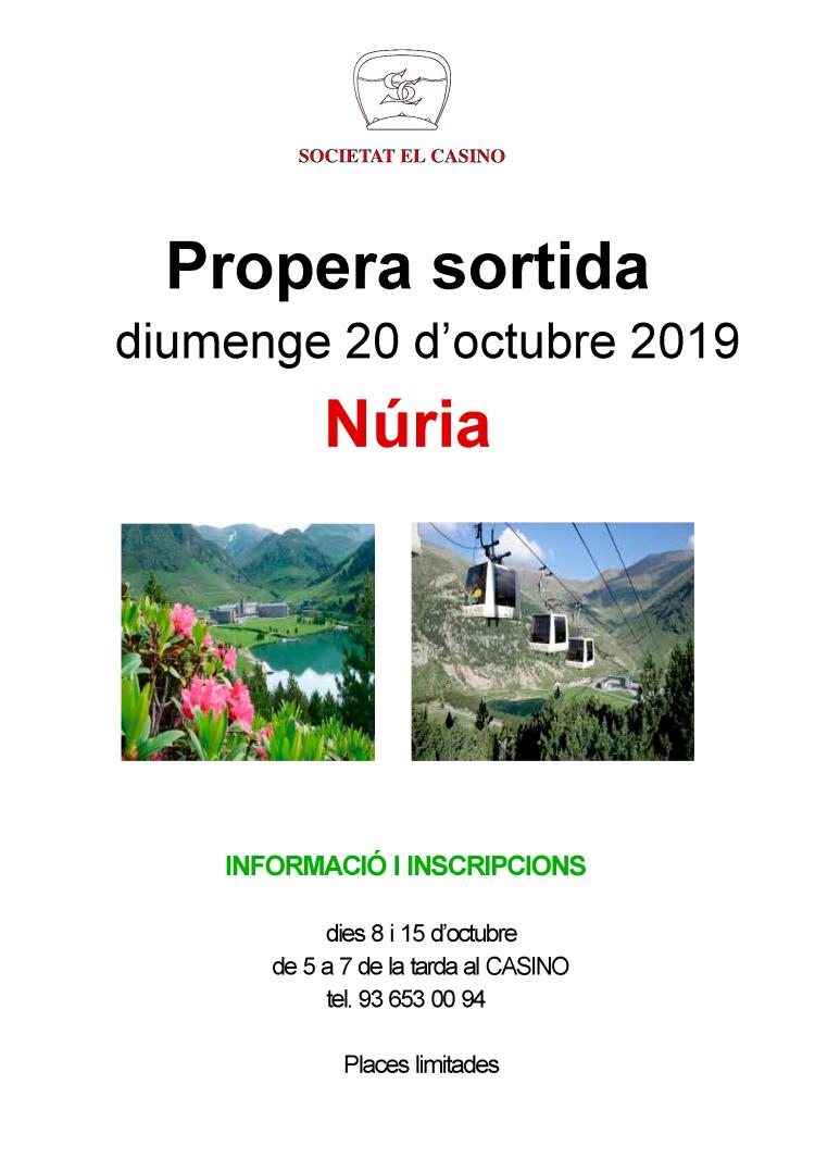 Sortida cultural a Núria, oct. 2019