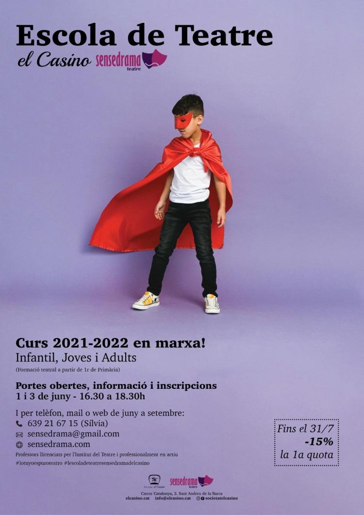 EscolaTeatre-ElCasino-Sensedrama. Curs 2021-2022